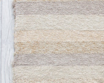 Beige Rug (4'6 x 6'6) Area Rugs, bedroom Area rug, Large rug, Nursery rugs, Farmhouse rug style, Handwoven Cotton | Eco-Friendly | Washable.