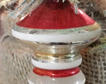 Shiny Brite Vintage Glass Christmas Ornament Retro Space Age