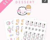 "DESSERT STICKERS SET // ""The Steamie Loves Dessert Collection"" [1 - Macaron Stickers, 2 - Ice Cream Stickers, 3 - Bubble Tea Stickers]"
