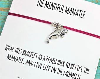Manatee Bracelet |  Manatee Charm Bracelet | Manatee Gift Bracelet | Friendship Bracelet | Best Friend Manatee Bracelet | Manatee Gift