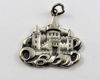 Old Castle on a Hill Sterling Silver Charm.