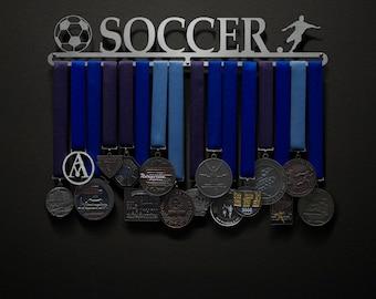 Soccer - Allied Medal Hanger Holder Display Rack