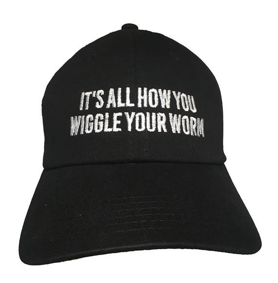 It's All How You Wiggle Your Worm - Polo Style Ball Cap (Black)