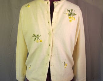 1950s darling yellow cardigan