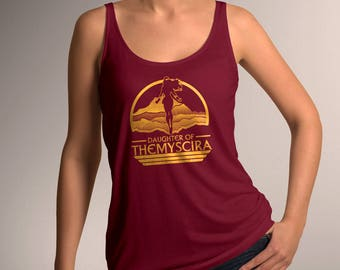 "Wonder Woman Inspired ""Daughter of Themyscira"" Women's Tank Top"