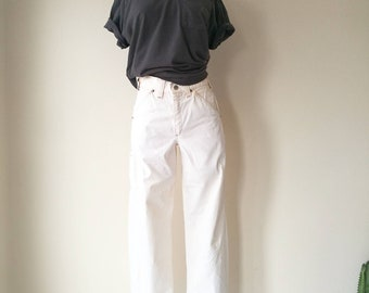 Vintage ELY natural white carpenter pants W26""