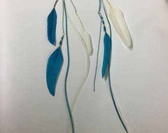 Feather and Chain Earrings