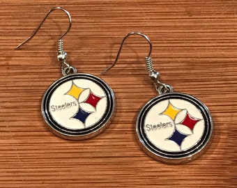 Pittsburgh Steelers Inspired Football Dangle Earrings! Show Your Team Spirit!