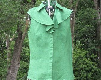 Jones New York Forest Green Blouse & w/tags !