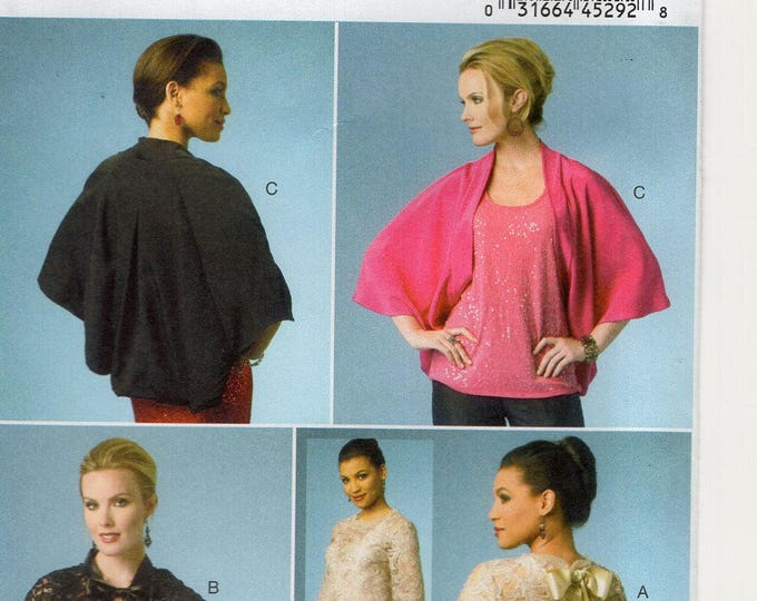 FREE US SHIP Butterick 5992 Cape Wrap  Shrug Overblouse 150th Anniversary Uncut Sewing Pattern Size 4/14 Bust 29 30 32 34 (Last size left)