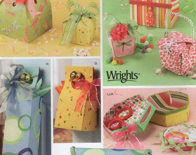 Simplicity 4320 Free Us Ship Craft Sewing Pattern  Fabric Box Envelopes Hang from Door Knob Uncut New fusible web Shirley Botsford Designs