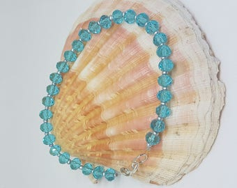 Bracelet seed beads and Crystal beads