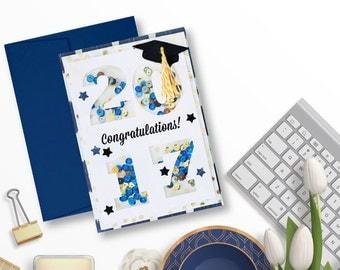 Graduation Shaker Card - 2017 Graduation Card