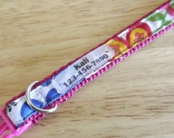 "Small Dog,  Collar & Quiet-Tag, adjustable from 9""- 13"" inches (22.86 - 33 centimeters)"