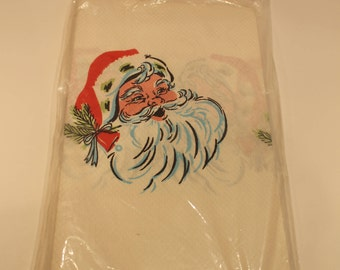 Vintage Christmas Paper Tablecloth - Santa Claus Tablecloth - New Old Stock - Vintage Xmas Party Decor