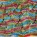 Handknit multicolor cowl wool warm soft orange cowl blue cowl striped cowl shrimp