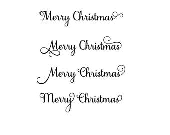 Merry Christmas SVG, Christmas SVG, Christmas decor svg, holiday svg, holiday decor svg, Merry svg, cursive svg, Merry Christmas font
