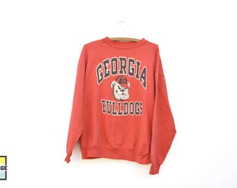 90s Vintage Georgia Bulldogs Crew Neck Sweatshirt