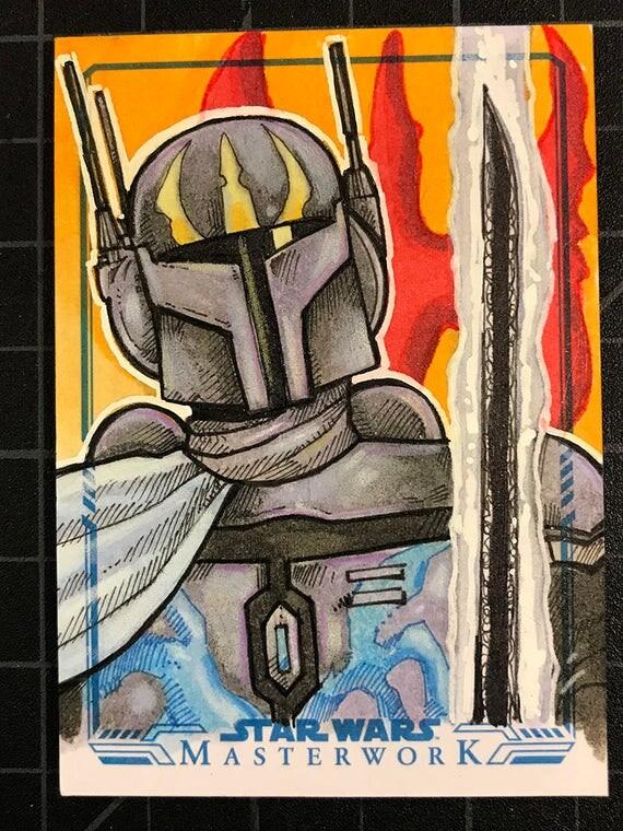 Star Wars Masterwork Original Artist Sketch Card: Pre Vizsla