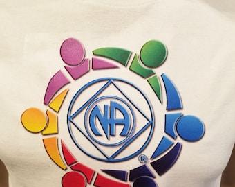 NA -CLOSING CIRCLE - white T-shirt - S-3X  - 100% cotton.  heat press t's