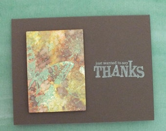 Thank you cards - butterfly focal point x2