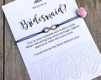 U zult mijn bruidsmeisje cadeau blauwe bruiloft, Cute bruidsmeisje geschenken, bruidsmeisje uitnodigingen, bruids partij giften, Ask bruidsmeisjes, B8