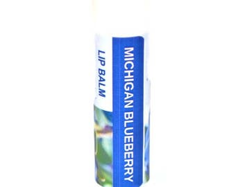 Lip Balm - Michigan Lip Balm - flavored lip balm - moisturizing lip balm - Blueberry lip balm - lips - Michigan