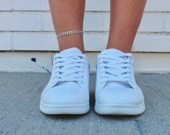 Chain Anklet - White Arrow