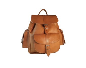 Leather Rucksack - Full Grain Leather Backpack. Handmade in Greece. LARGE Size.