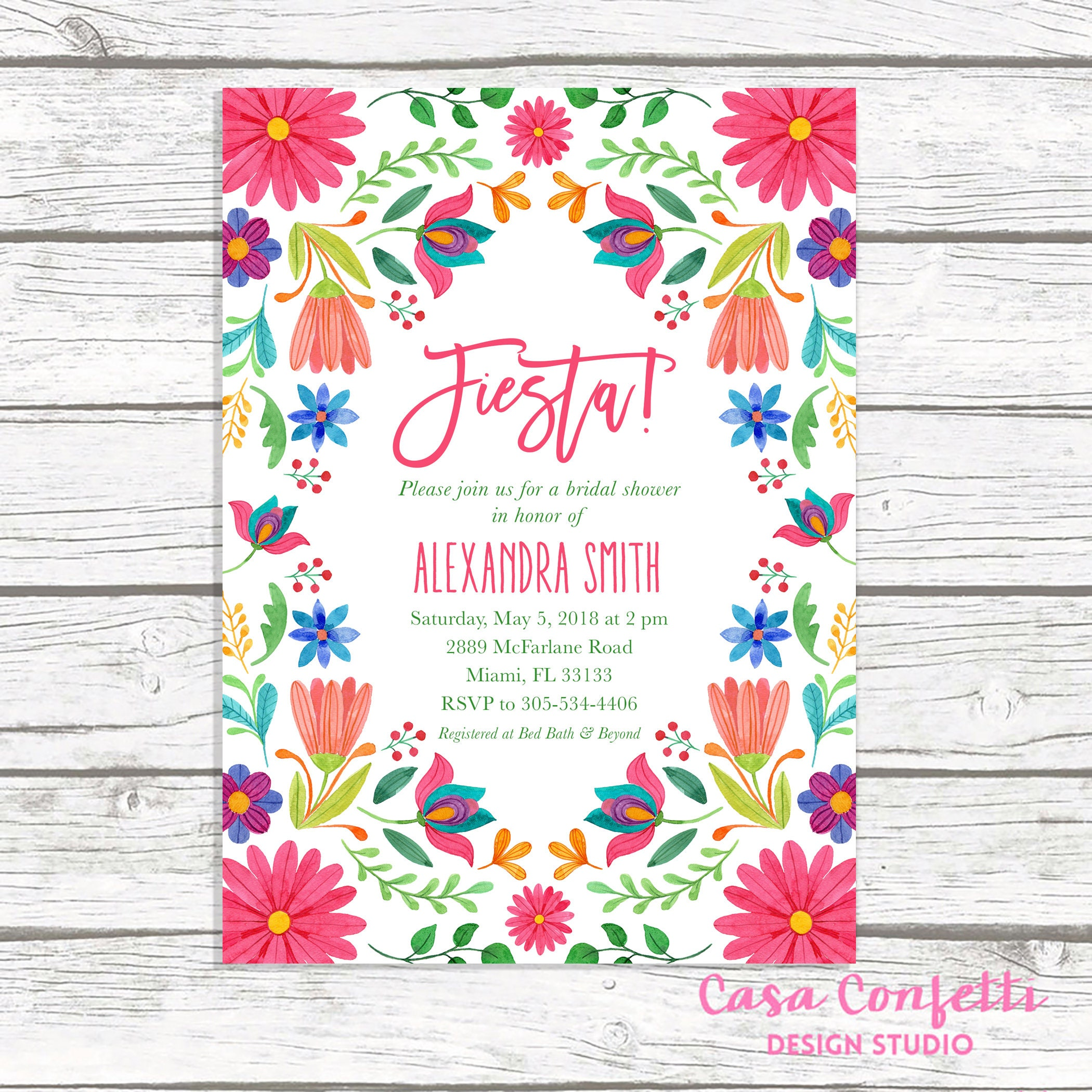 bridal shower invitation mexican invitation mexican cinco de mayo ...