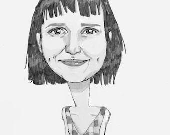 Custom Digital Caricature Portrait
