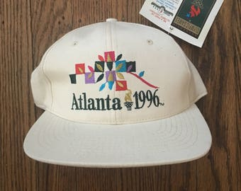 Vintage 90s Deadstock Olympics 1996 Atlanta Snapback Hat Baseball Cap