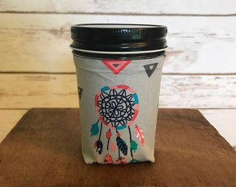 SALE!! Dream Catcher Fabric Candle, Handmade Candles, Scented Candles, Candles, Natural Soy Wax, Personalized Candles, Dream Catcher Candle