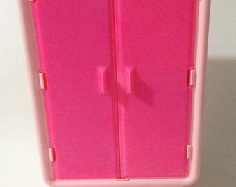 Vintage 1980u0027s Barbie Dream Furniture Collection Armoire Pink Wardrobe  Clothes Closet With Hangers