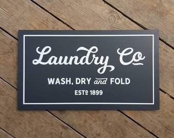 Laundry Co Wood Sign - Fixer Upper Inspired - Made in Australia - 28.5 x 50cm