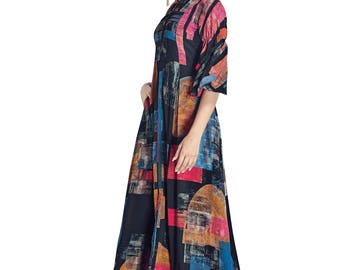 Indian Pakistan Bollywood Designer Kurti Designer Women Ethnic Multi Colored Modal & Crepe Georgette kurti Top Tunic Kurta women kurti top