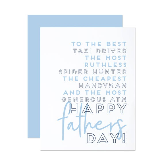 Dad Jobs - Funny Father's Day Card