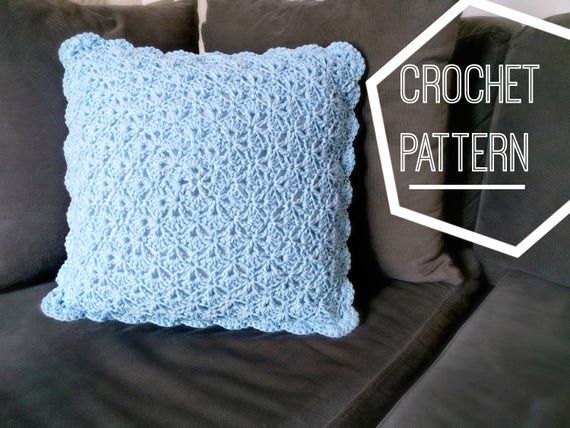 Shabby Chic Shells Crochet Pillow Pattern Crochet Pattern