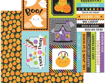 """Doodlebug BooVille Double-Sided Cardstock 12""""X12"""" - Pick A Pumpkin"""