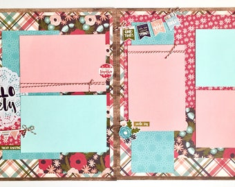 Hello Lovely 2 Page Scrapbook Page Kit