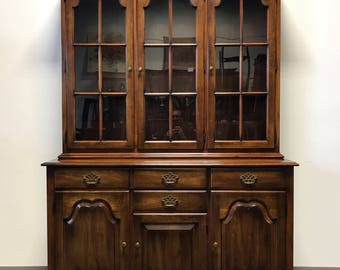 STATTON Oxford Antique Cherry China Cabinet Hutch