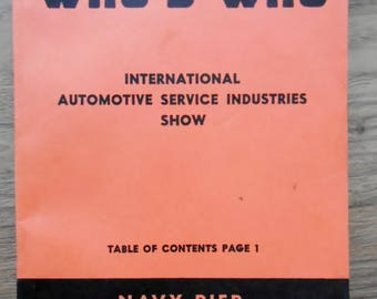 1959 Motor Age's Who's Who International Automotive Service Industries Show Navy Pier Chicago February 18-21, 1959