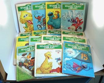 COMPLETE SET Sesame Street Treasury books - vintage, set of 15, #1-15 - 1970s, 70's