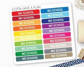 Planner Stickers No School Quarter Box for Erin Condren, Happy Planner, Filofax, Scrapbooking