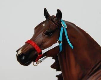 Red White And Blue Breyer/Peter Stone Traditional Grosgrain Model Horse Halter