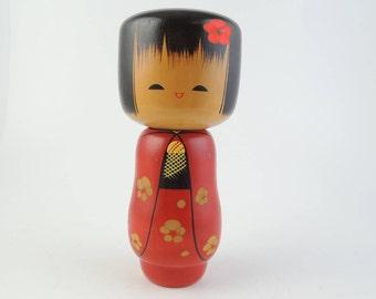 Vintage kokeshi doll, Small