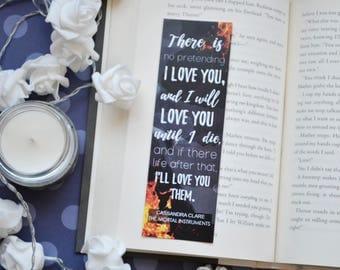 Bookmark I love you Cassandra clare quote 47