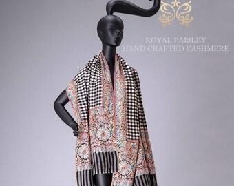 Pashmina Shawl Pal Dar Embroidery Paper Mesh Art