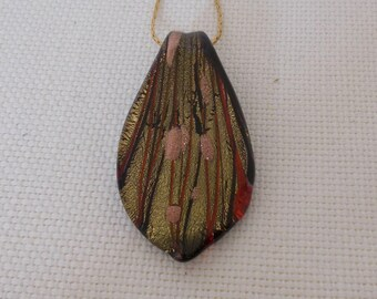 Handpainted glass pendant