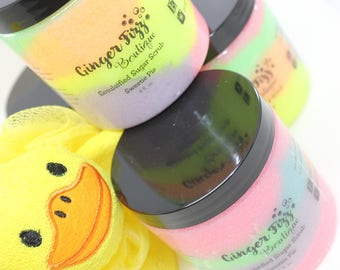 Emulsified Sugar Scrub - Sweetie Pie, Sugar Scrub, Sugar Scrubs, Body Scrub, Body Scrubs, Emulsified Sugar Scrub